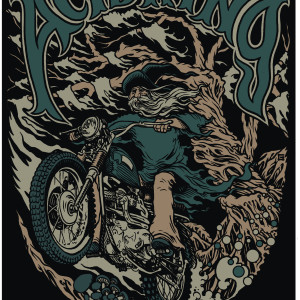 Biker Wizard Logo Black T-Shirt