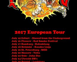 2017 European Tour Dates Announced