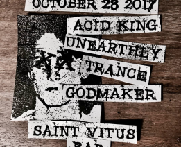 Acid King announces show in  New York at St. Vitus Bar Saturday 10/28!